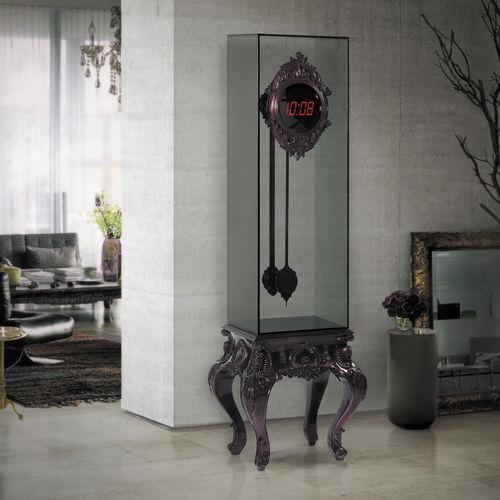horloge design original / analogique / en bois / en verre