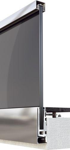 garde-corps en aluminium / à panneaux en verre / d'intérieur / d'extérieur