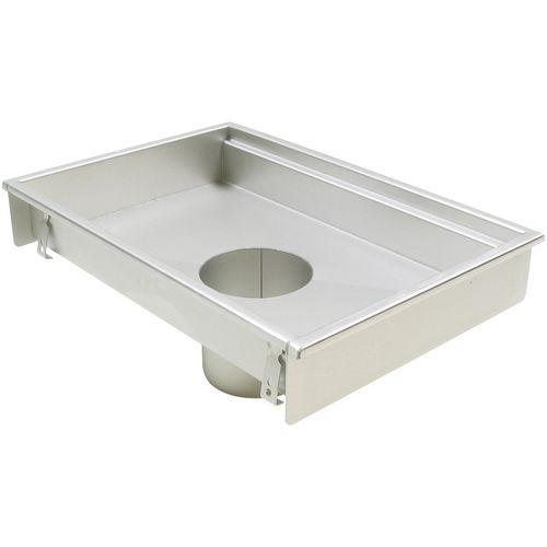 siphon de sol en acier inox / pour cuisine / rectangulaire