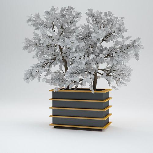 jardinière en métal / carrée / rectangulaire / modulable
