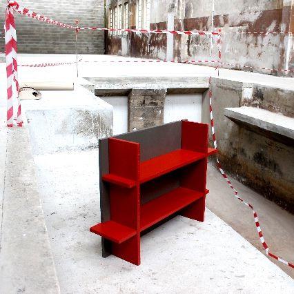 panneau décoratif en Valchromat® / pour meuble / modulaire