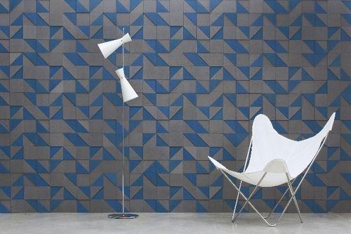 panneau décoratif en Valchromat® / mural / 3D / sur mesure