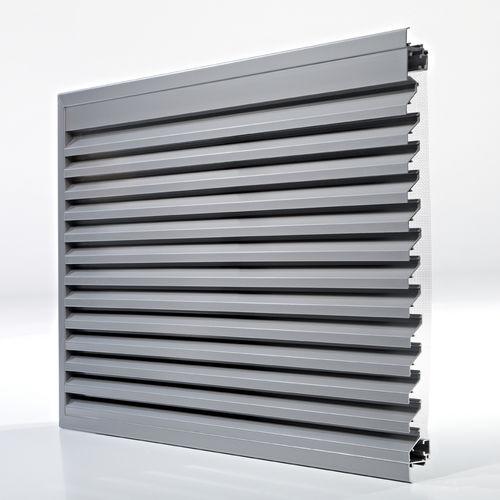 grille de ventilation en aluminium / rectangulaire / pour façade