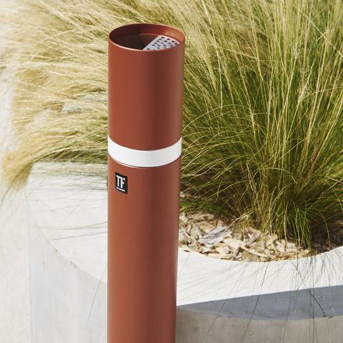 Cendrier sur pied / en métal / pour extérieur / pour espace public BRIVE Tolerie Forezienne