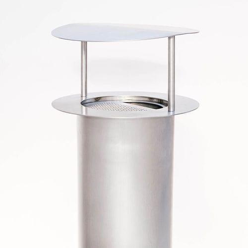 Cendrier sur pied / en acier inoxydable / pour extérieur / pour espace public TEMPETE Tolerie Forezienne