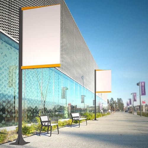 Panneau d'affichage mural / d'extérieur / en acier CINEMASCOPE Tolerie Forezienne