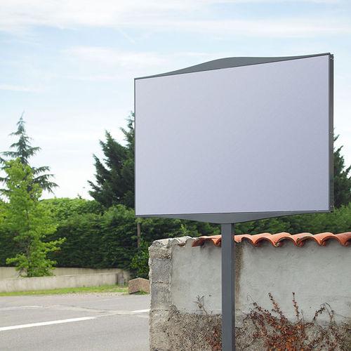 Panneau d'affichage d'extérieur / en aluminium SINGLE ROADSIDE Tolerie Forezienne