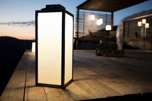 lanterne en teck / d'aluminium