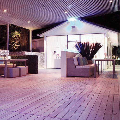 lame de terrasse en bois composite / en bois de feuillus / thermo-traitée / professionnelle