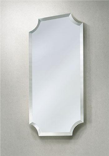 Miroir De Salle De Bain Mural / Art Déco