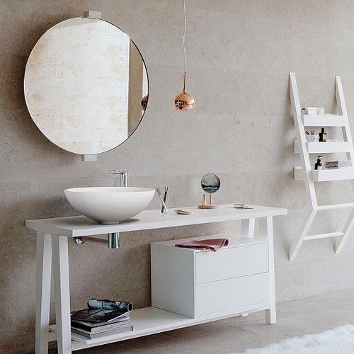 vasque à poser / ronde / en Corian® / contemporaine