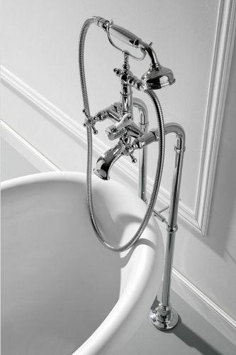 mélangeur pour baignoire / mural / en nickel / en métal chromé