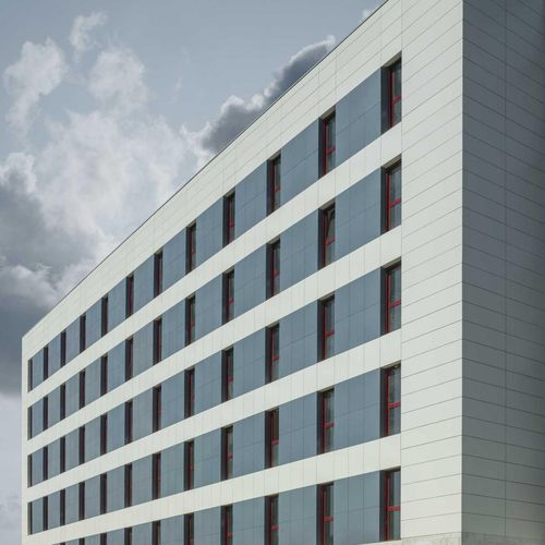 Bardage en céramique / texturé / aspect métal / pour façade ventilée FILO: MERCURIO LAMINAM