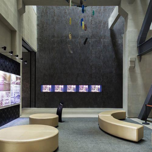 Revêtement mural autres matériaux / à usage professionnel / mat / à effet dimensionnel OXIDE: NERO LAMINAM