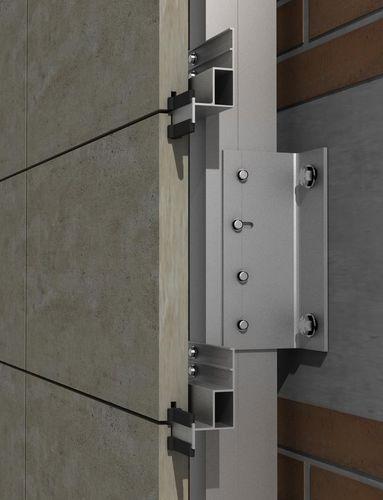 système d'ancrage en aluminium / pour façade ventilée / pour bardage de façade