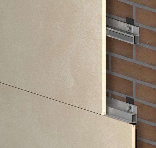 système de fixation en métal / pour bardage de façade / pour intérieur