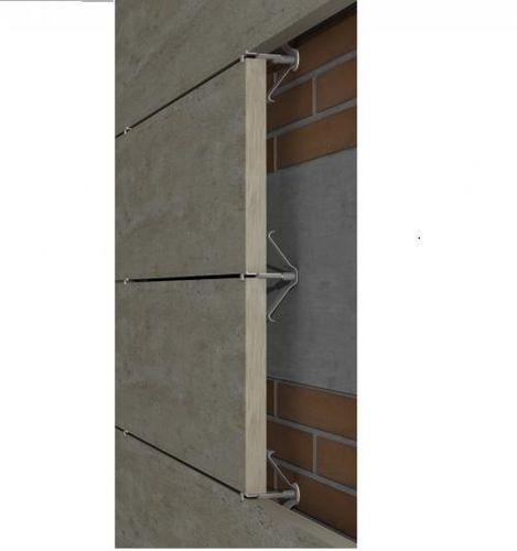 système de fixation en métal / en acier inox / pour façade ventilée / pour bardage de façade