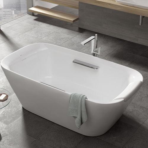 baignoire à poser / ovale / en composite