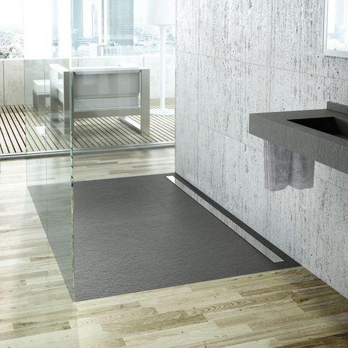 Receveur de douche rectangulaire / en acier inox / en ardoise / sur mesure ELAX: TEA by FIORA Team Fiora