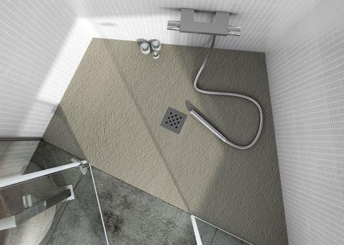 Receveur de douche en acier inox / en ardoise / sur mesure ELAX: CLASSIC by FIORA Team Fiora
