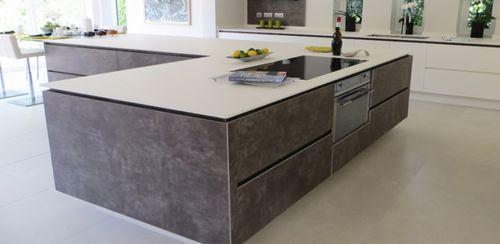 Plan de travail en pierre naturelle / de cuisine VESUVIO : BIANCO POLARE by Heather e S. A. - Hanna B Designs lapitec