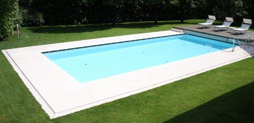 Carrelage pour plage de piscine / de sol / en pierre naturelle / à relief VESUVIO : BIANCO CREMA lapitec