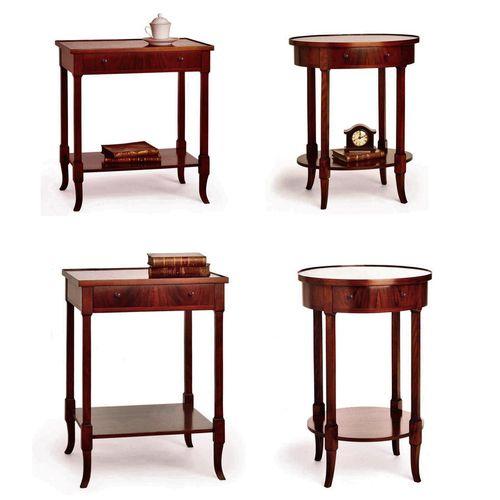 table de chevet de style victorien / en noyer / rectangulaire / carrée
