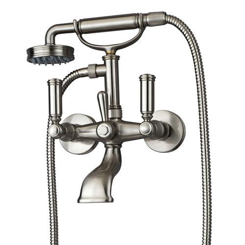 mélangeur pour douche / pour baignoire / mural / en laiton chromé