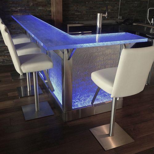 meuble bar professionnel / contemporain / en verre / sur mesure