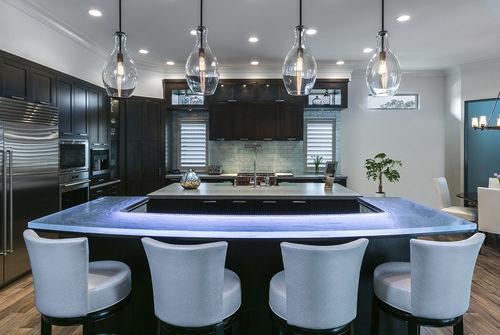 comptoir de cuisine / de bar / en verre / en U