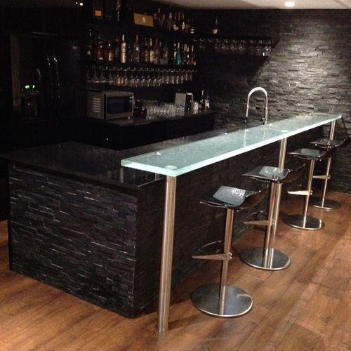 comptoir de bar / en verre / droit