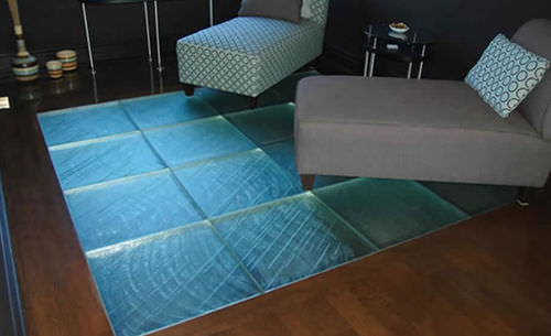 panneau en verre à motif / pour plancher / haute résistance / translucide