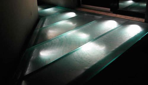 panneau en verre à motif / pour passerelle / antidérapant / translucide