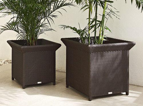 pot de jardin en aluminium / rectangulaire / carré