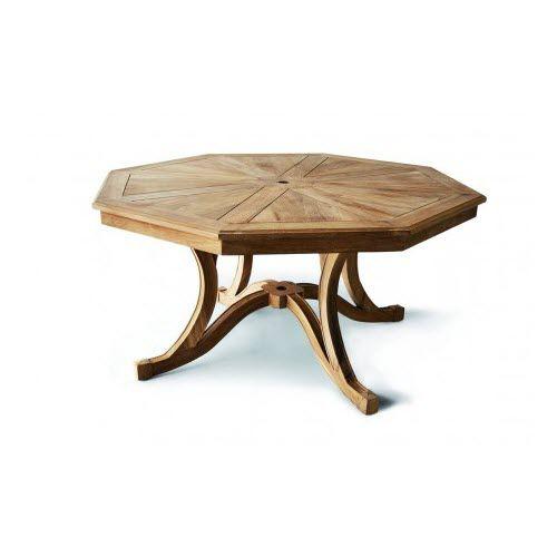 Table Régence / en bois / octogonale / de jardin - J DT OCTO ...