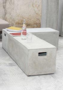 Banc De Jardin / Contemporain / En Composite Ciment Verre