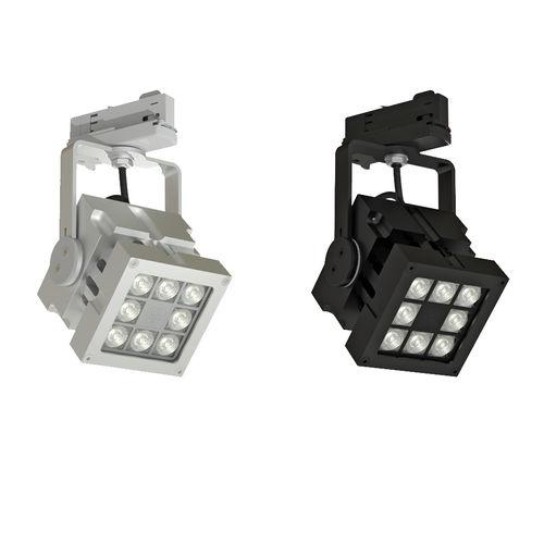 Éclairage sur rail à LED / carré / en aluminium / professionnel REVO TRACK DMX CLS LED