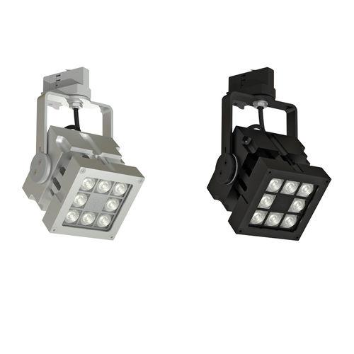 Éclairage sur rail à LED / carré / en métal / professionnel REVO  CLS LED