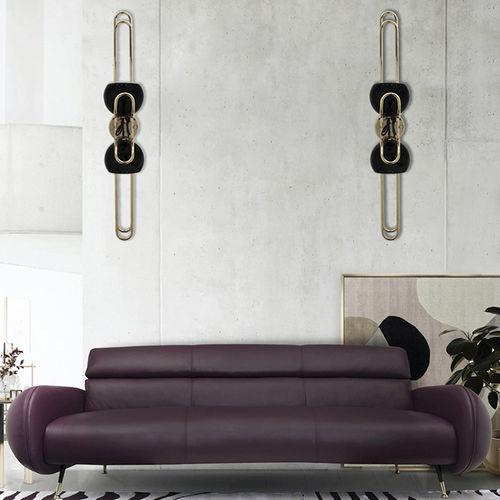 applique murale contemporaine / en aluminium / en laiton / à LED