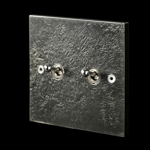 interrupteur bouton poussoir / double / en métal / classique