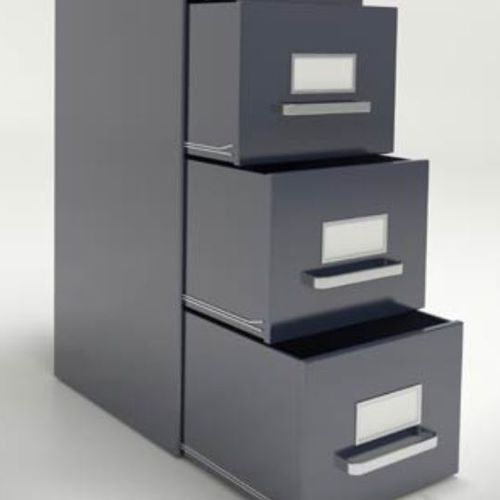 armoire de classement haute / en acier / à tiroirs / avec porte coulissante