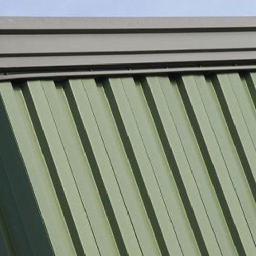 tôle nervurée / en acier / de couverture / pour mur