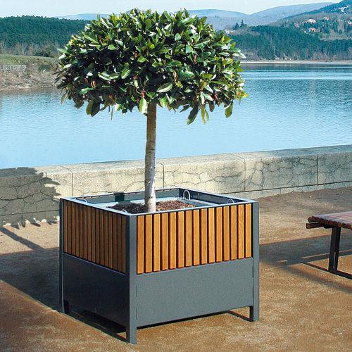 Jardinière en acier / carrée / contemporaine / pour espace public TIMÉO ACCENTURBA