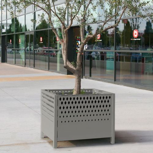 Jardinière en acier / carrée / contemporaine / pour espace public OXYGO ACCENTURBA