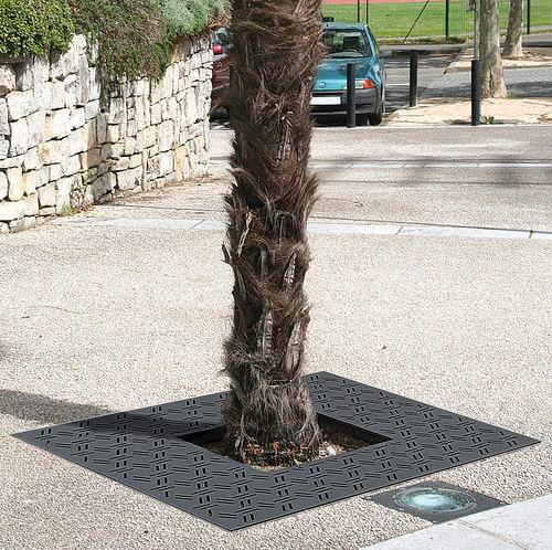Grille d'arbre en acier / carrée GIRO by Agence PBO Design ACCENTURBA