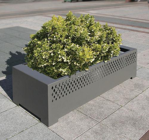 Jardinière en acier / rectangulaire / avec banc intégré / contemporaine TAMARA ACCENTURBA