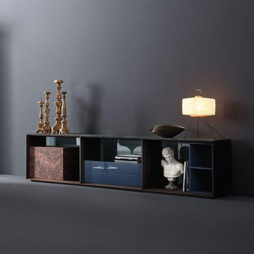 buffet contemporain / en bois / en verre / en marbre