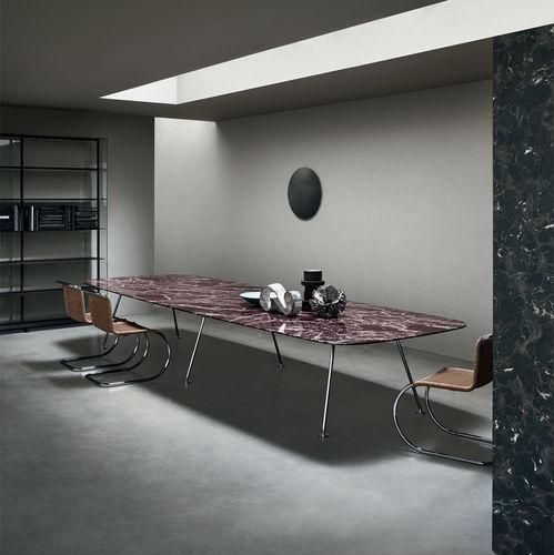 table à manger contemporaine / en bois / en verre / en métal