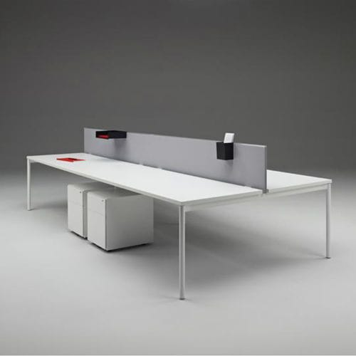 Séparateur de bureau sur plan / stratifié / en acrylique by Marc Krusin Knoll international