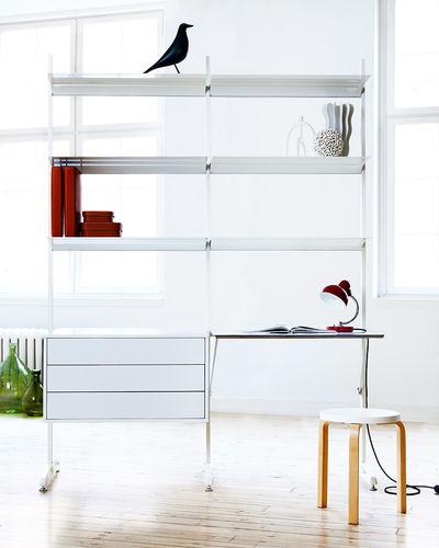 bureau en aluminium / contemporain / avec rangement intégré / avec étagère